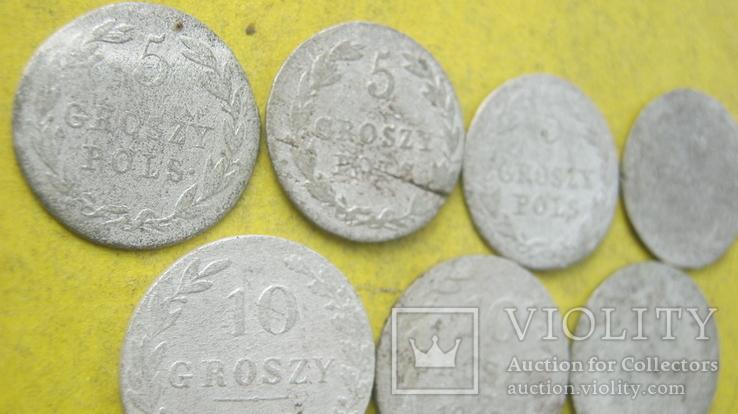Срібні гроши різних років та номіналів Росіі для Польші, фото №7