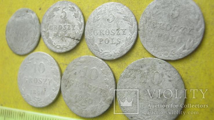 Срібні гроши різних років та номіналів Росіі для Польші, фото №9