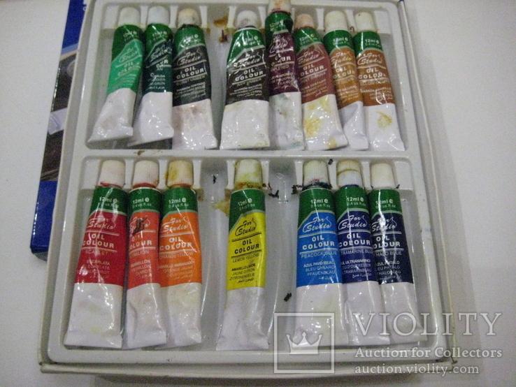 """Масляные краски """"BASIGS"""" Китай. 15 малых туб - Б/У., фото №3"""