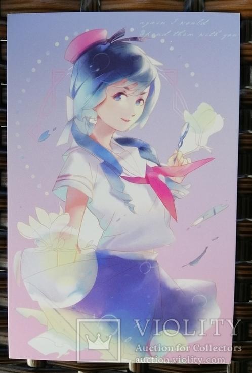 Открытки манга аниме девушки фентези, фото №5