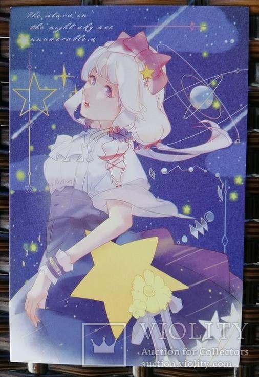 Открытки манга аниме девушки фентези, фото №7