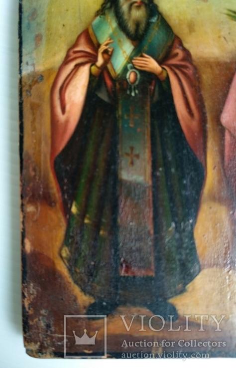 Ікона св.муч.Наталії та св.Кирилія,іменинник,мініатюра, фото №5