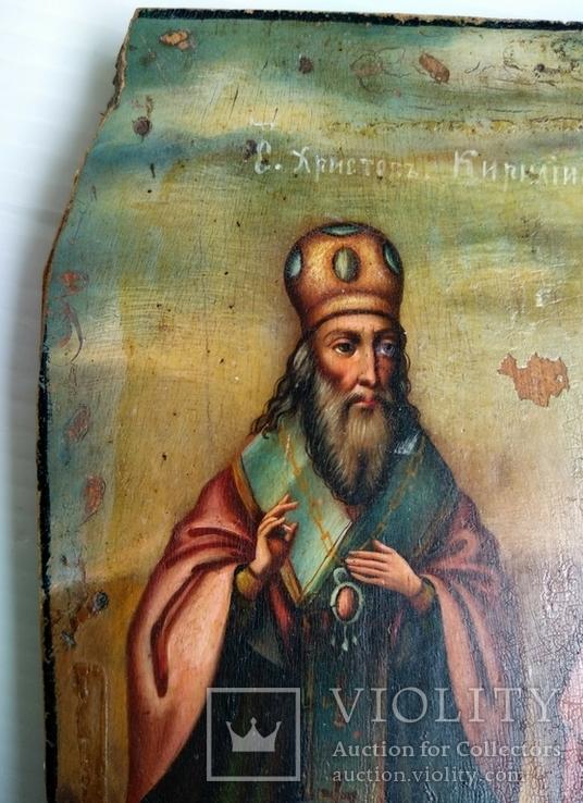 Ікона св.муч.Наталії та св.Кирилія,іменинник,мініатюра, фото №6