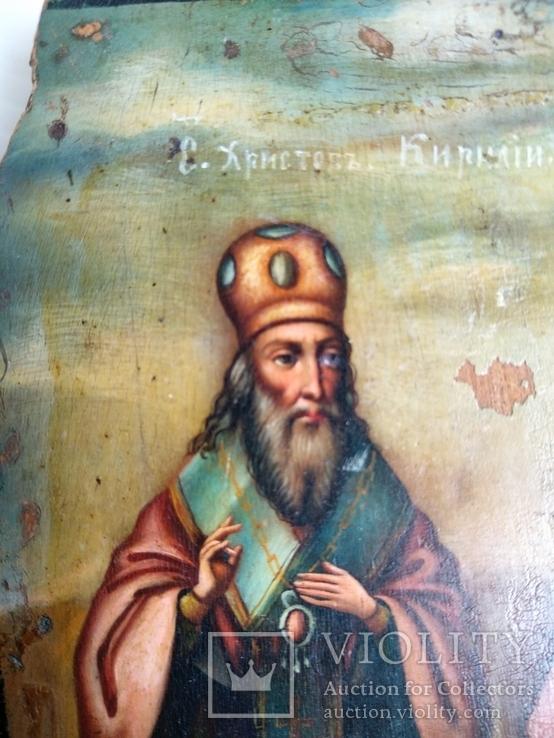 Ікона св.муч.Наталії та св.Кирилія,іменинник,мініатюра, фото №13