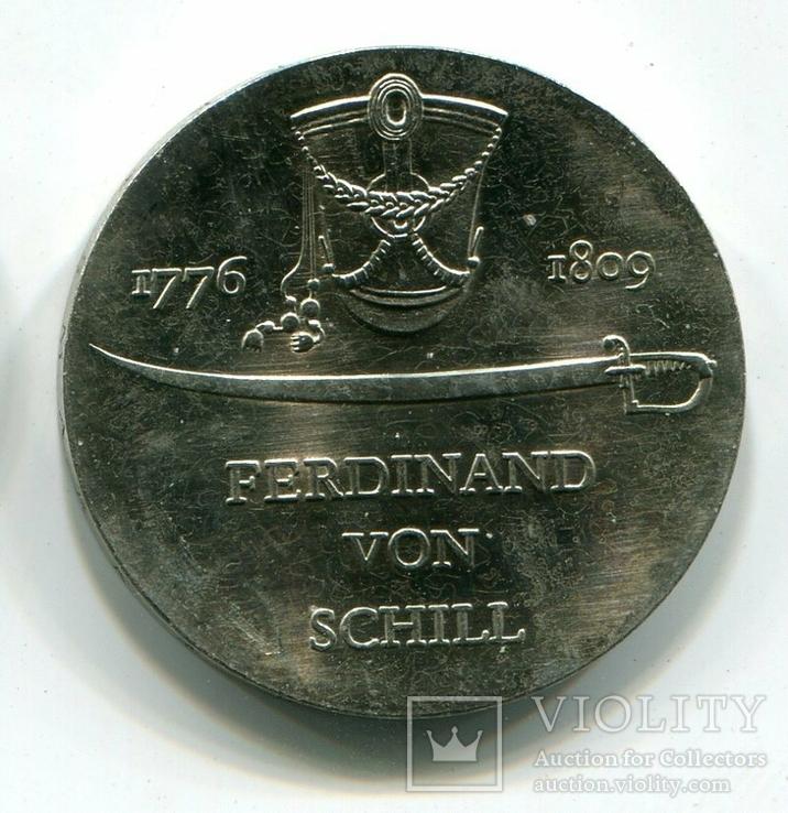 ГДР 5 марок 1976 г. Фердинанд фон Шилль, фото №2