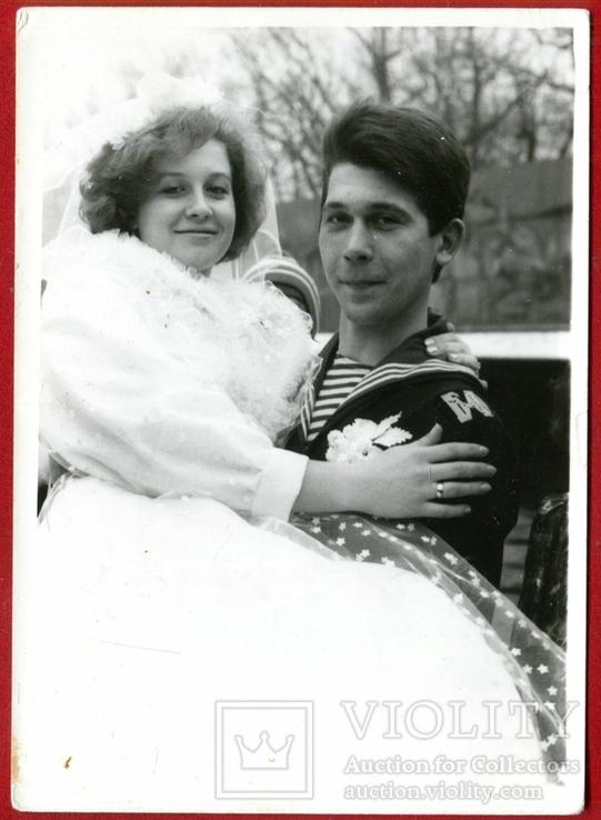 Свадьба жених невеста матрос 1991 г., фото №2