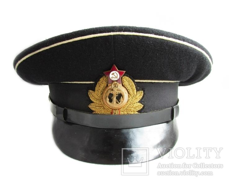 Суконная морская офицерская фуражка красный воин 1953 год ВМФ., фото №4