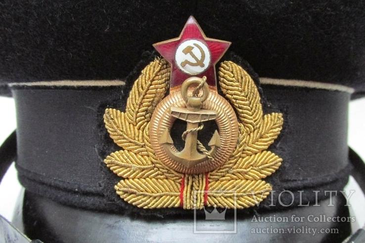 Суконная морская офицерская фуражка красный воин 1953 год ВМФ., фото №8