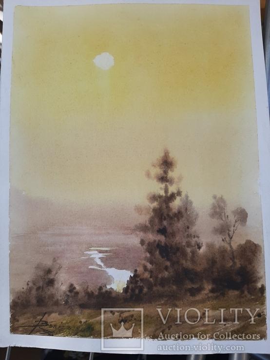 Рисунок акварель подпись, фото №3