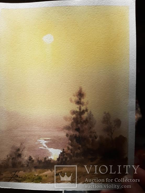 Рисунок акварель подпись, фото №6