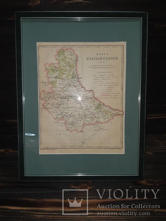 1900 Карта Киевской губернии