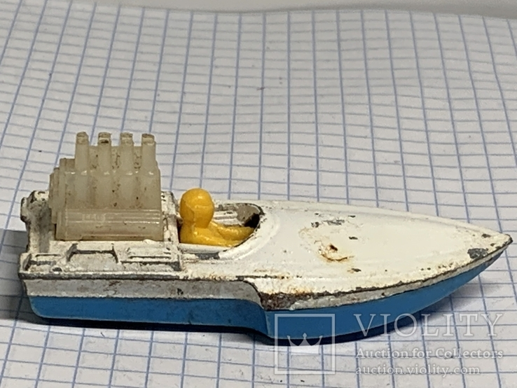 Lesney Matchbox Superfast 5 Seafire Boat Blue Driver Toy Model Made in England, фото №3