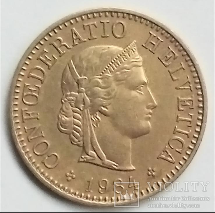 5 раппенов 1984 г. Швейцария, фото №2