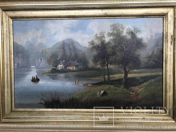Горное озеро - автор Rudolfo оригинал с сертификатом, фото №2