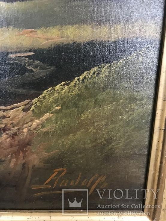 Горное озеро - автор Rudolfo оригинал с сертификатом, фото №4