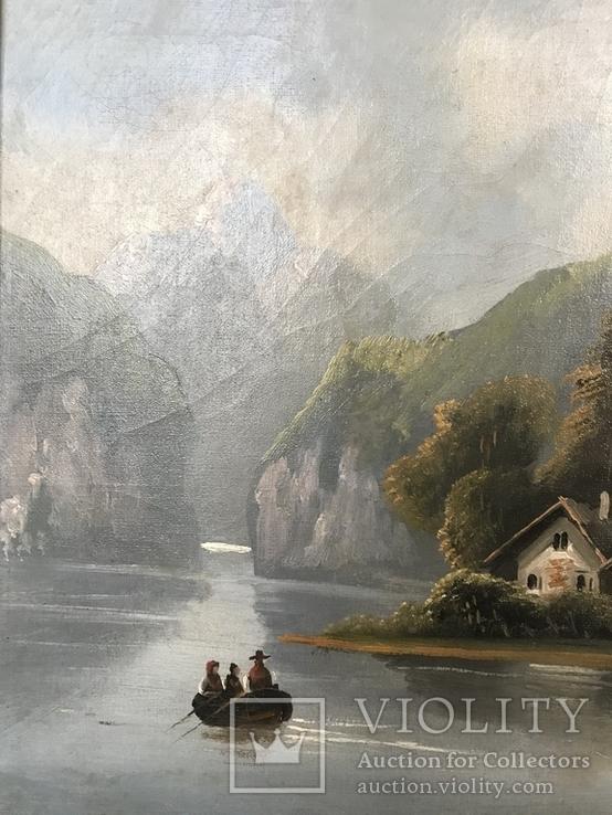 Горное озеро - автор Rudolfo оригинал с сертификатом, фото №7