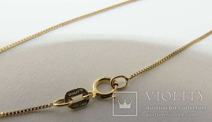 Золотой кулон с бриллиантами на цепочке, фото №6