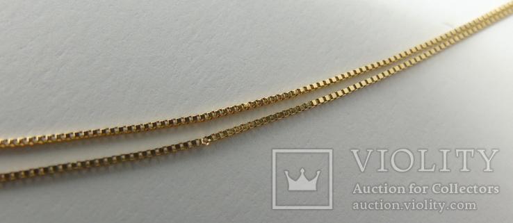 Золотой кулон с бриллиантами на цепочке, фото №7