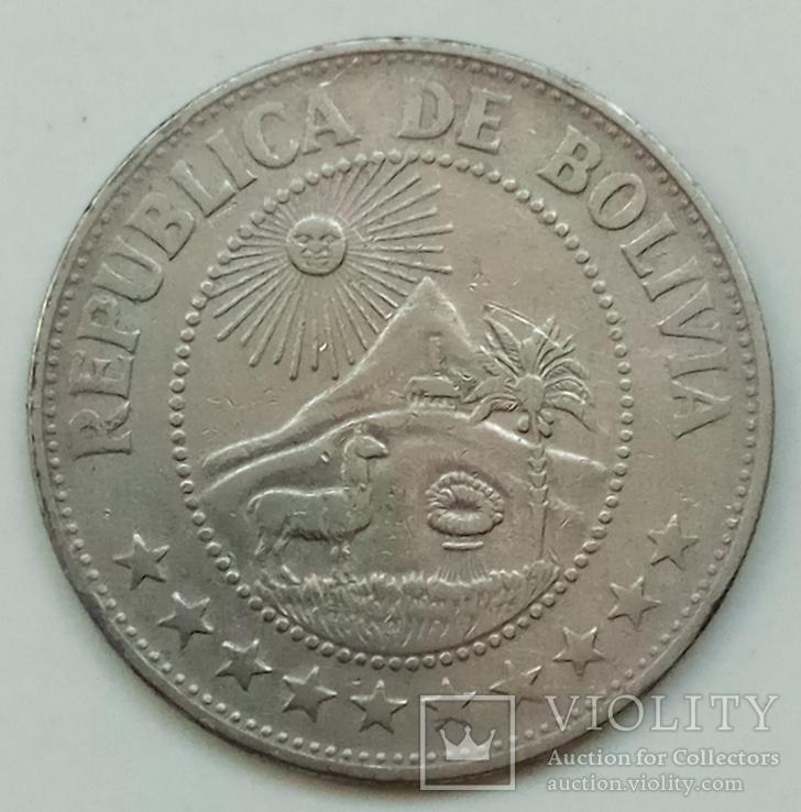 1 песо 1969 г. Боливия, фото №2