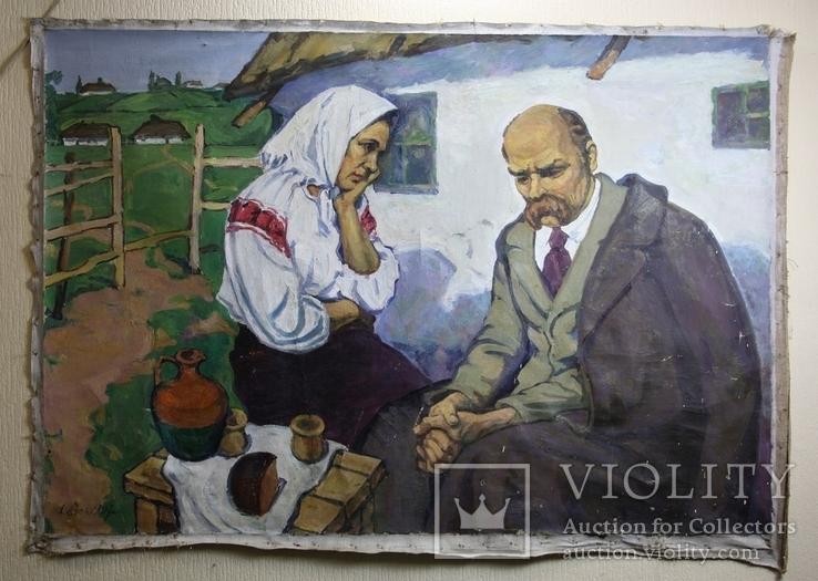 """Картина  """"Т. Г.Шевченко"""" 110х160   Худ. А. Векслер, фото №2"""