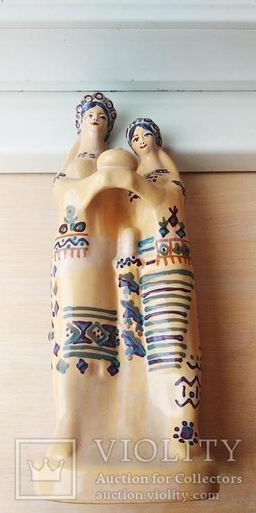 Статуэтка, керамика. Украинки с караваем., фото №7