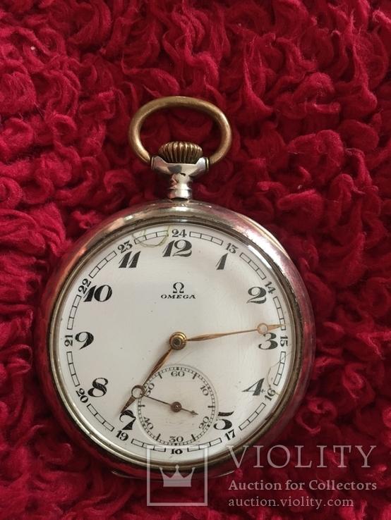 Часы карманные Omega ( серебро )