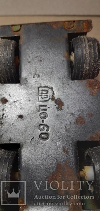 Железная машинка ДЖИП из СССР длина 10 см., фото №6