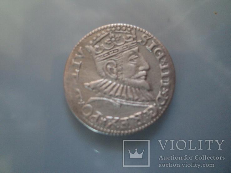 Трояк 1593 г, фото №2