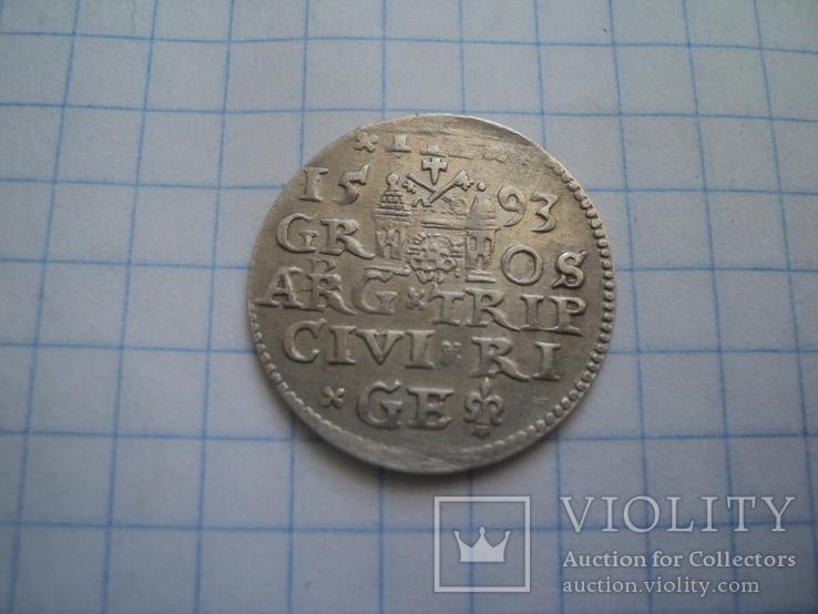 Трояк 1593 г, фото №8