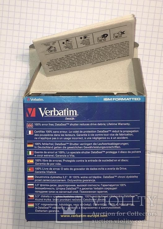 "Дискеты Verbatim 3,5"" DataLife 2HD Microdiscs 1.44 Mb / Floppy Disk, новые, 8 шт., фото №3"