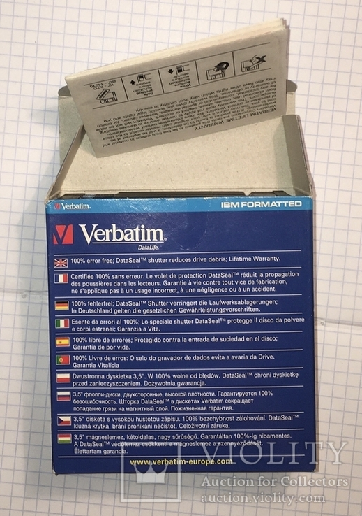 "Дискеты Verbatim 3,5"" DataLife 2HD Microdiscs 1.44 Mb / Floppy Disk, новые, 8 шт., фото №4"
