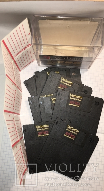 "Дискеты Verbatim 3,5"" DataLifePlus 2HD Microdiscs 1.44 Mb / Floppy Disk, новые, 8 шт., фото №3"