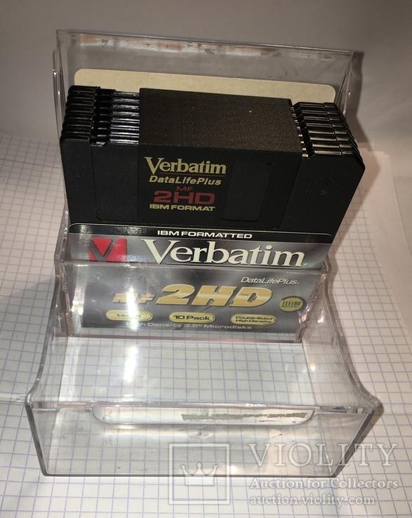 "Дискеты Verbatim 3,5"" DataLifePlus 2HD Microdiscs 1.44 Mb / Floppy Disk, новые, 8 шт., фото №2"