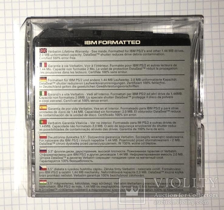 "Дискеты Verbatim 3,5"" DataLifePlus 2HD Microdiscs 1.44 Mb / Floppy Disk, новые, 8 шт., фото №5"
