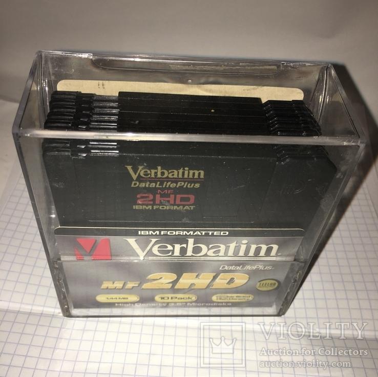 "Дискеты Verbatim 3,5"" DataLifePlus 2HD Microdiscs 1.44 Mb / Floppy Disk, новые, 8 шт., фото №6"