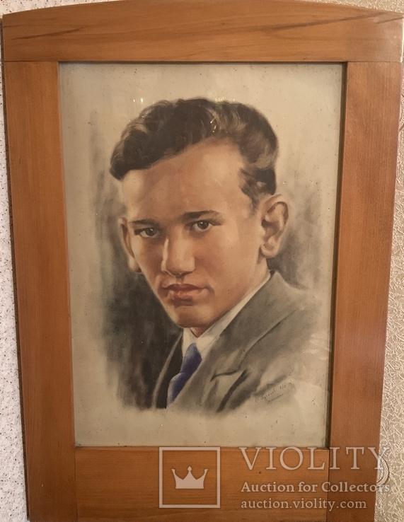 С. Пугачев 1939 Москва Пастель, фото №3