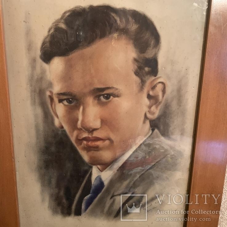 С. Пугачев 1939 Москва Пастель, фото №4