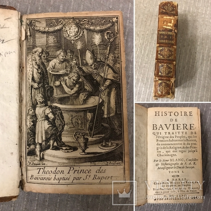 История Баварии с гравюрой 1680г