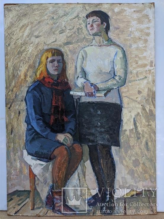 """Картина """"Юные"""" 1966г., фото №2"""
