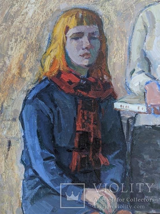 """Картина """"Юные"""" 1966г., фото №3"""