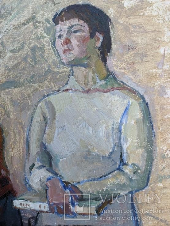 """Картина """"Юные"""" 1966г., фото №4"""