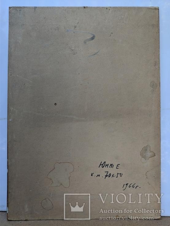 """Картина """"Юные"""" 1966г., фото №5"""