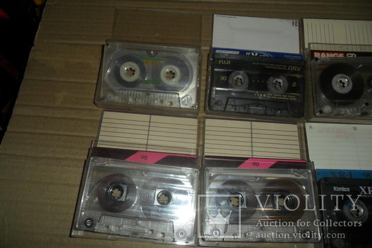 Аудиокассета кассета Konica Range Fuji и др. - 9 шт в лоте, фото №3