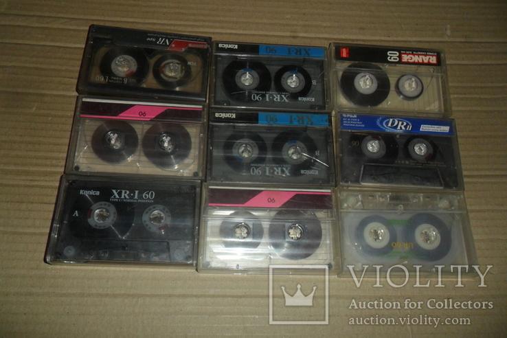 Аудиокассета кассета Konica Range Fuji и др. - 9 шт в лоте, фото №9