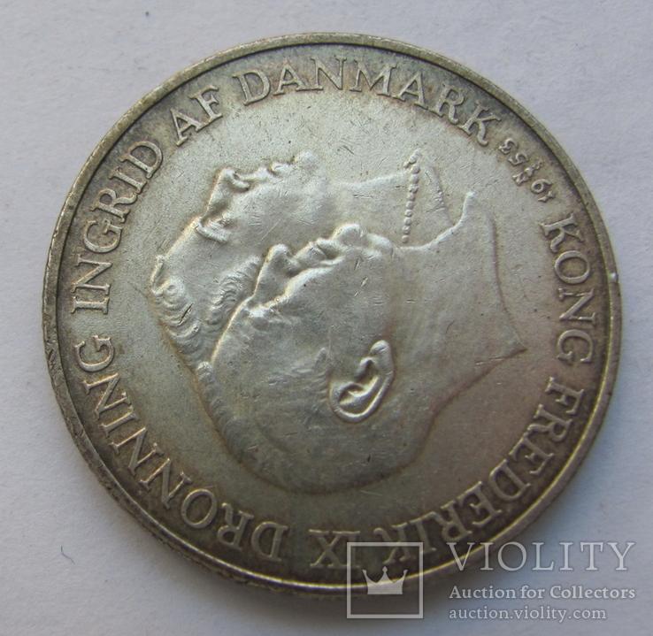 2 кроны 1953 г. Дания /Визит в Гренландию/, фото №3