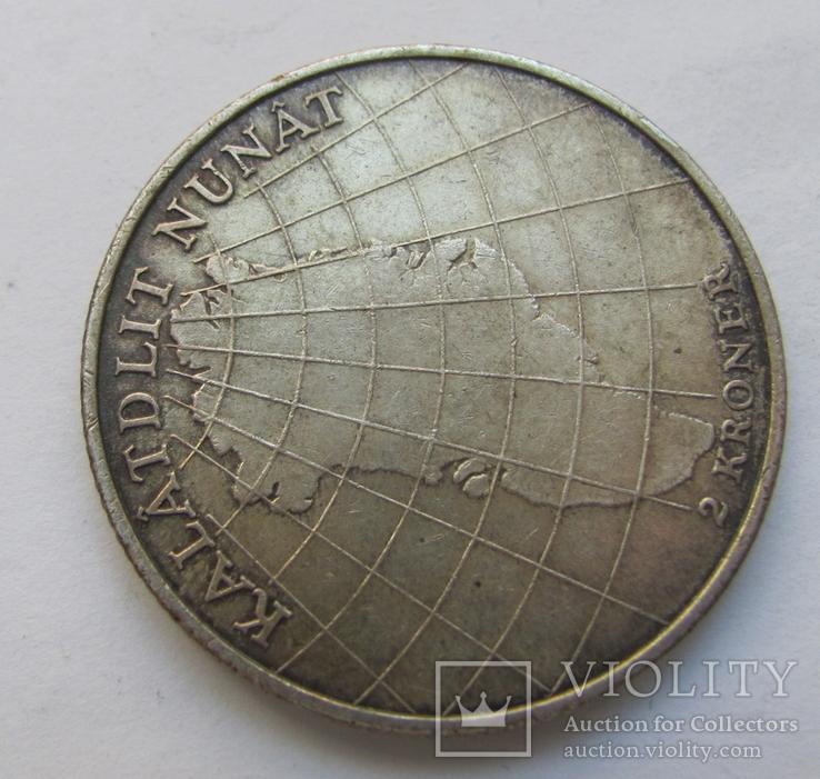 2 кроны 1953 г. Дания /Визит в Гренландию/, фото №6