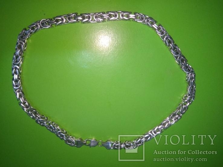Цепь серебро 925 пробы, фото №4