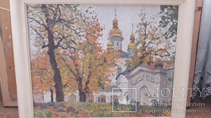 """В.И.Беляк """"Осень в Лавре"""", к.м., 1978 год., фото №2"""