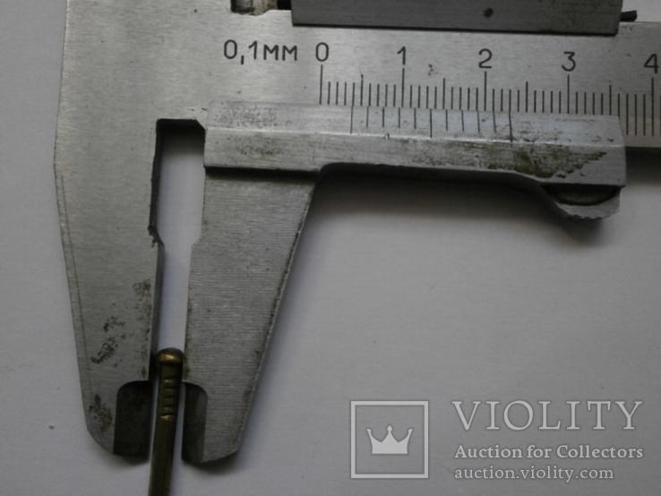 Латунные гвоздики с выпуклой шляпкой лот 100 шт. Лот №11, фото №4