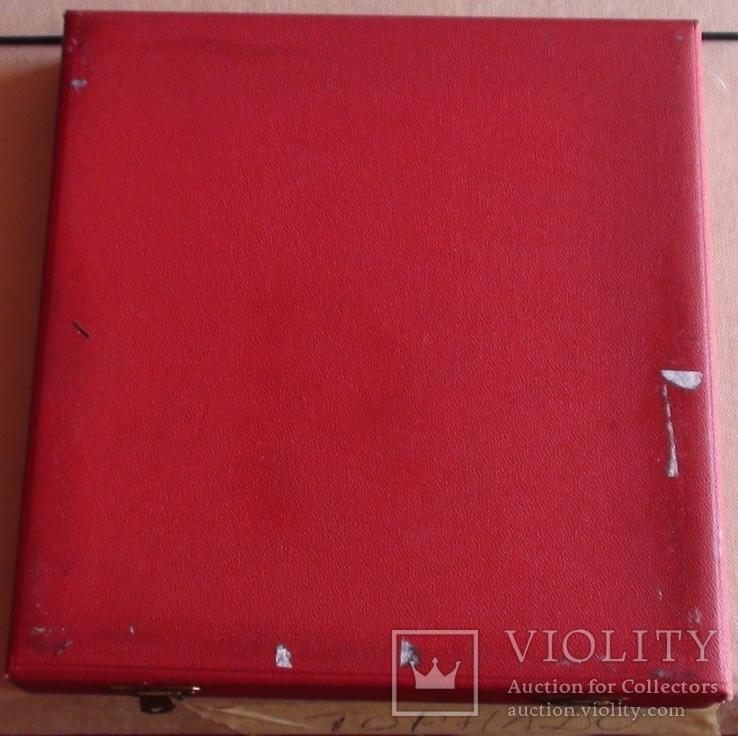 Связь,Венгрия, памятная плакета в родной коробке 2, фото №5
